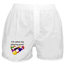 Playing Pool Boxer Shorts