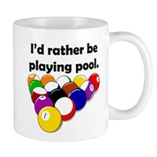Playing Pool Small Mug