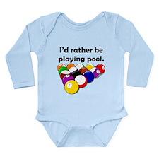 Playing Pool Long Sleeve Infant Bodysuit