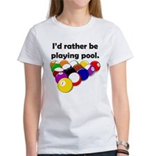 Playing Pool Tee