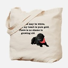 Old Black Lab Tote Bag