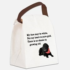 Old Black Lab Canvas Lunch Bag