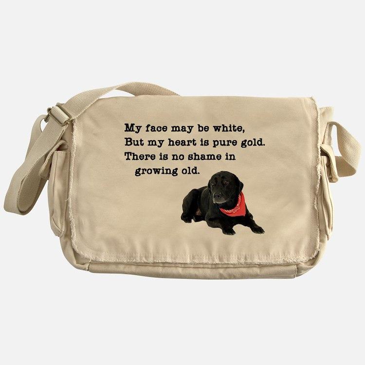 Old Black Lab Messenger Bag