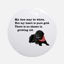 Old Black Lab Ornament (Round)