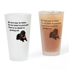 Old Black Lab Drinking Glass