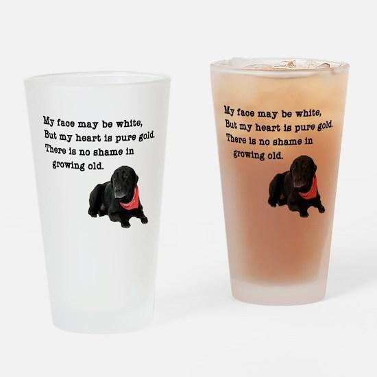 Old Black Lab Drinking Glass
