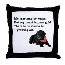 Old Black Lab Throw Pillow
