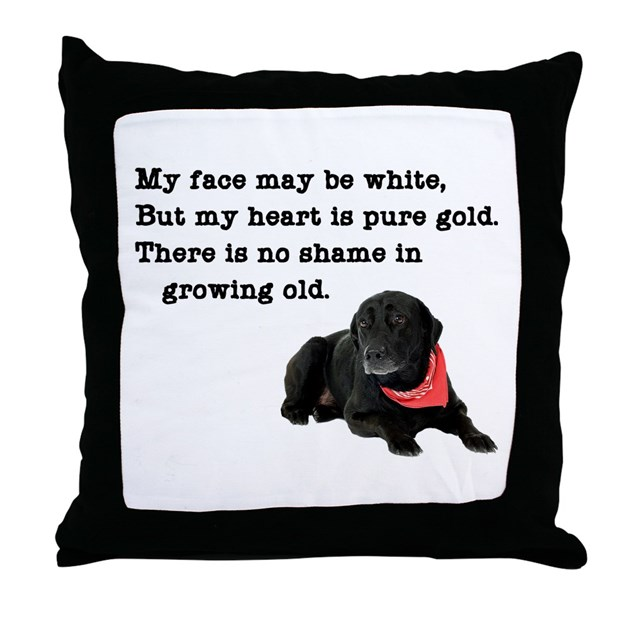 Black Lab Throw Pillow : Old Black Lab Throw Pillow by cafepets