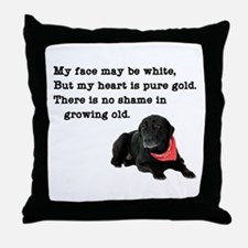 Old Black Lab Throw Pillow