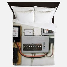 Electricity meter and fuse boxes - Queen Duvet