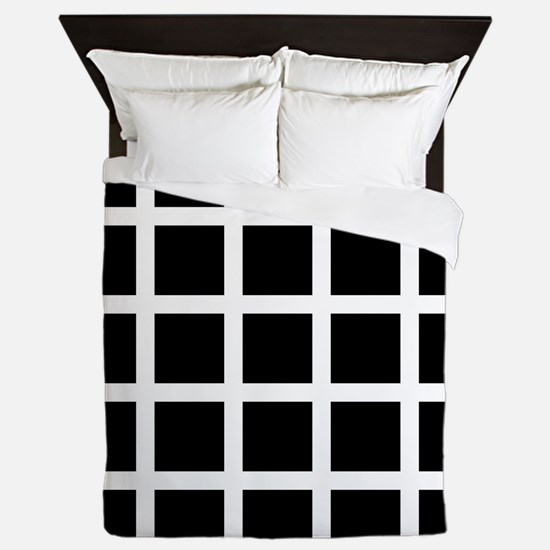 Hermann grid - Queen Duvet