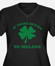 If found return to Ireland Women's Plus Size V-Nec
