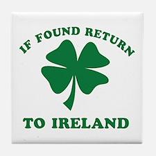 If found return to Ireland Tile Coaster