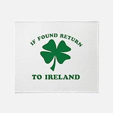 If found return to Ireland Throw Blanket