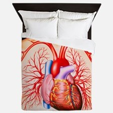 Human heart, artwork - Queen Duvet