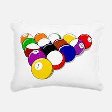 Eight Ball Rack Rectangular Canvas Pillow