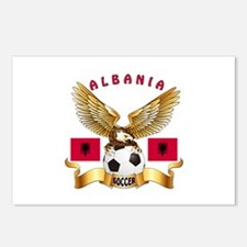 Albania Football Design Postcards (Package of 8)