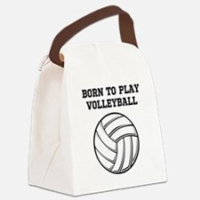 Born To Play Volleyball Canvas Lunch Bag