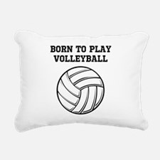 Born To Play Volleyball Rectangular Canvas Pillow