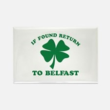 f found return to Belfast Rectangle Magnet