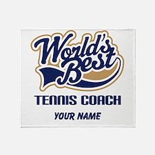 Tennis Coach (Worlds Best) Throw Blanket