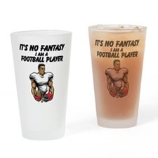 I Am A Football Player Drinking Glass