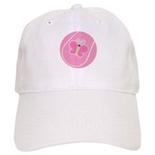 Tennis Ball Butterfly Baseball Cap