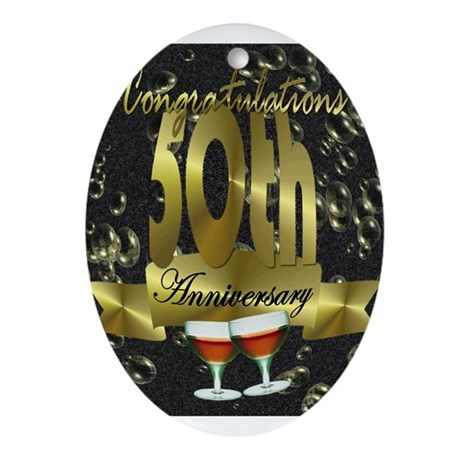 50th anniversary congradulations Ornament (Oval)