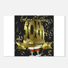 50th anniversary congradulations Postcards (Packag