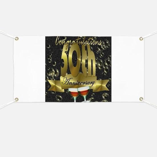 50th anniversary congradulations Banner