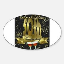50th anniversary congradulations Decal