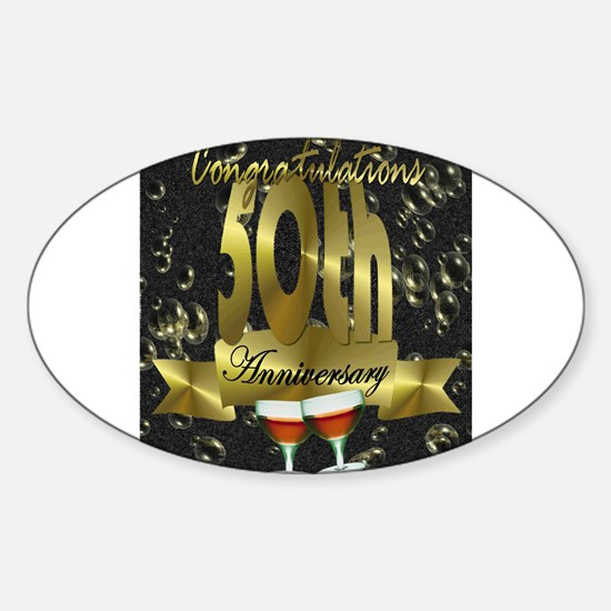 50th anniversary congradulations Sticker (Oval)