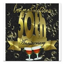 50th anniversary congradulations Square Car Magnet