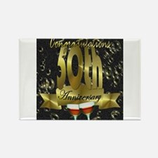 50th anniversary congradulations Rectangle Magnet