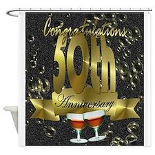 50th anniversary congradulations Shower Curtain