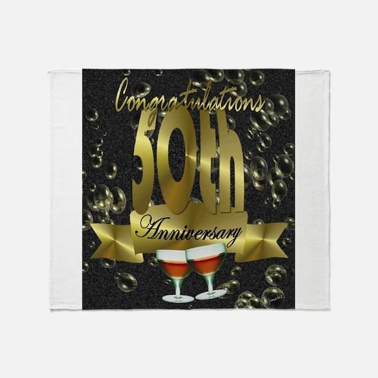 50th anniversary congradulations Throw Blanket