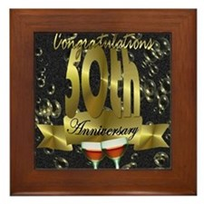 50th anniversary congradulations Framed Tile