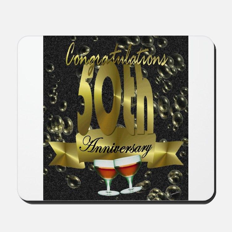 50th anniversary congradulations Mousepad