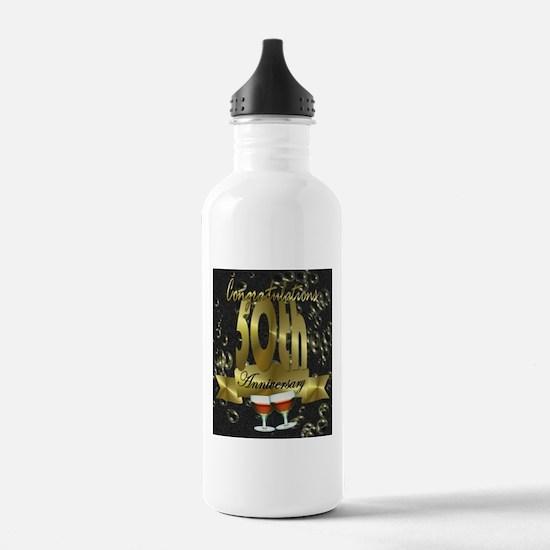 50th anniversary congradulations Water Bottle
