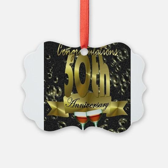 50th anniversary congradulations Ornament