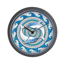 Blue Dolphins Wall Clock
