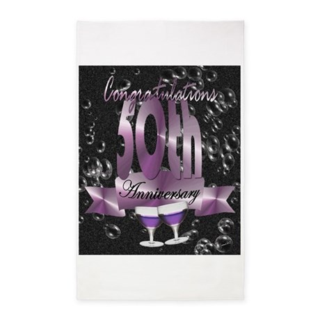 50th anniversary congratulations 3'x5' Area Rug
