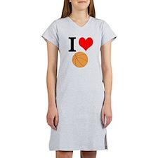 I Heart Basketball Women's Nightshirt