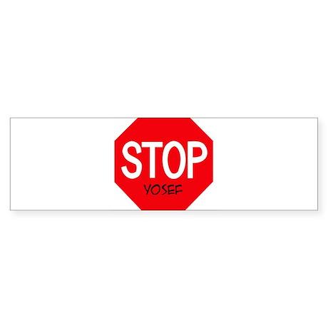 Stop Yosef Bumper Sticker