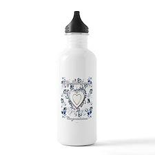 golden anniversary 50th art illustration Water Bottle