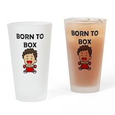 Born To Box Drinking Glass