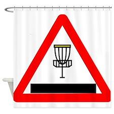 Disc Golf Sign Shower Curtain