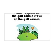 Stays On The Golf Course Wall Decal