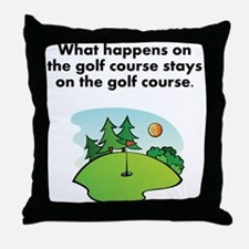 Stays On The Golf Course Throw Pillow