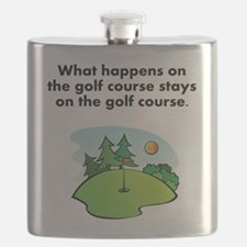Stays On The Golf Course Flask